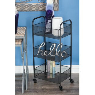 Crotts Metal Basket Bar Cart