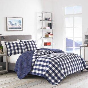 Lake House Plaid Cotton Reversible Quilt Set