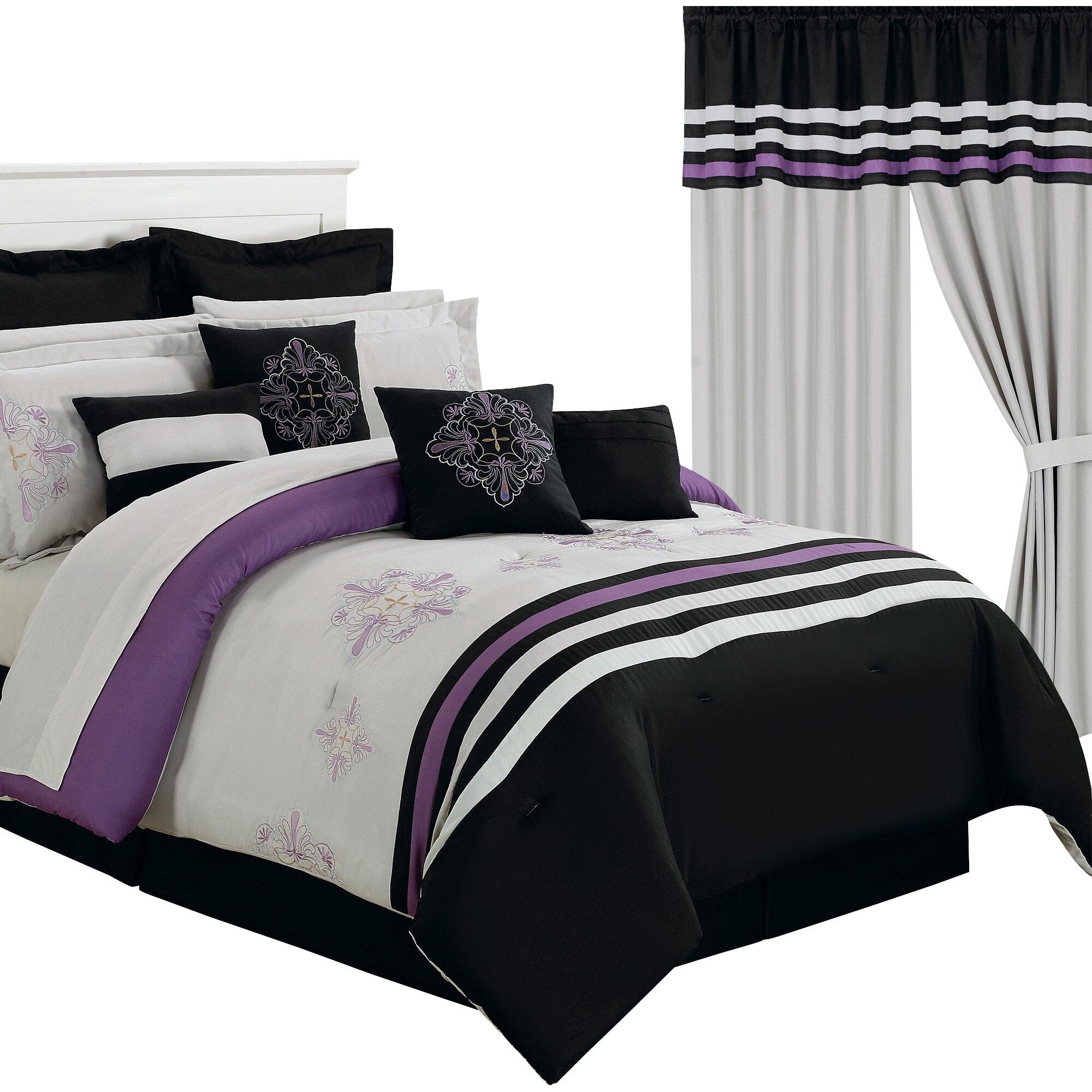 Lavish Home Rachel 24 Piece Bed-In-A-Bag Set & Reviews   Wayfair