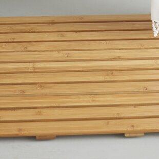Addilyn Natural Bamboo Wood Nonskid Bath Mat