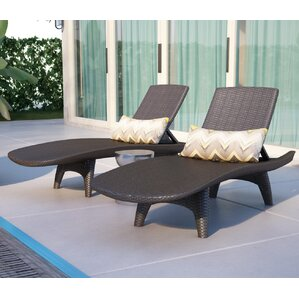 clarita chaise lounge set of 2 - Garden Furniture Loungers