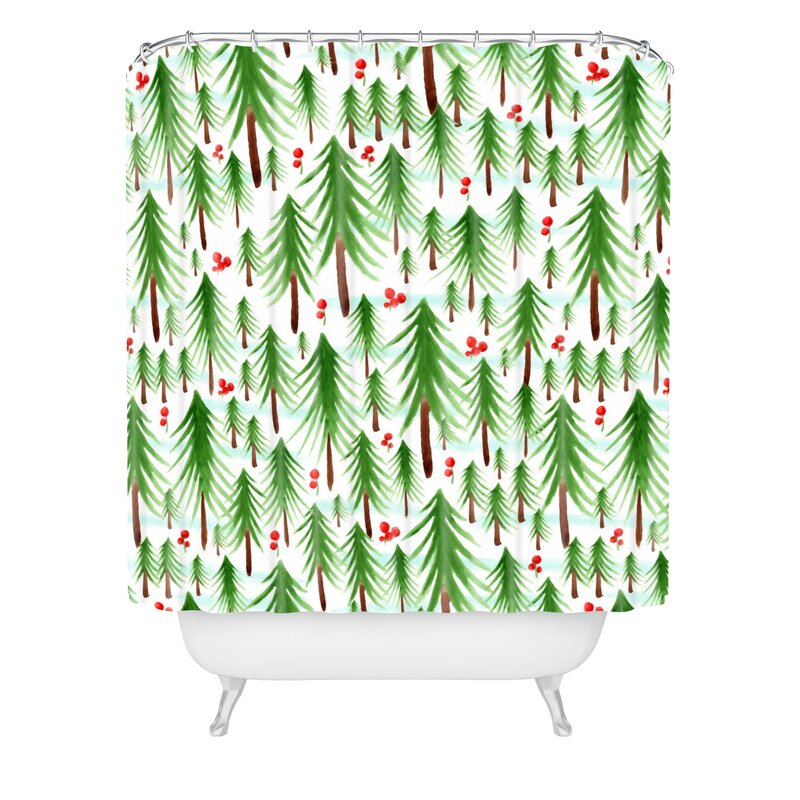 Heather Dutton Christmas Tree Farm Shower Curtain