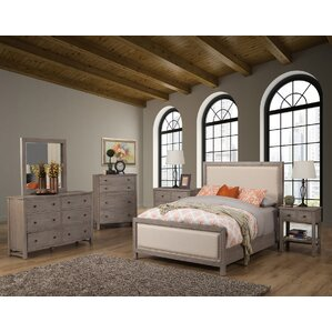 Burgundy Panel Customizable Bedroom Set