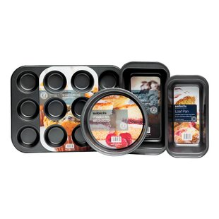 4 Piece Non-Stick Bakeware Set by Home Etc