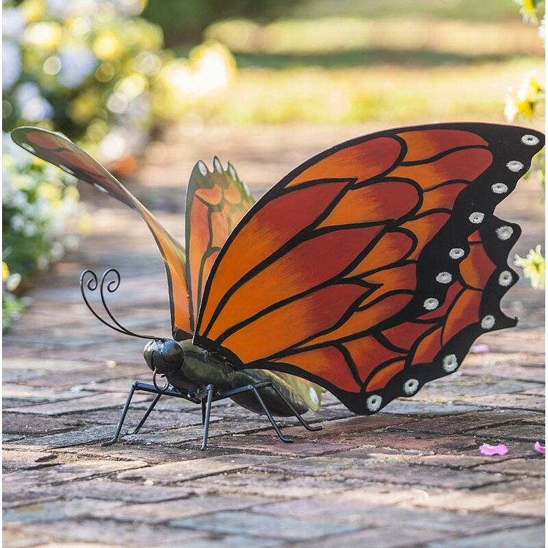 Metal Monarch Butterfly Garden Art