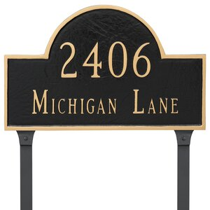 Classic 2-Line Lawn Address Sign