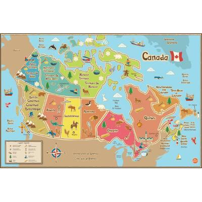 WallPops! WallPops Kids Canada Map Wall Mural | Wayfair