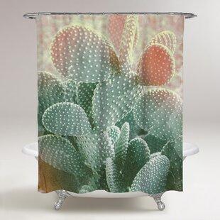 Pinecrest Blushing Cactus Single Shower Curtain