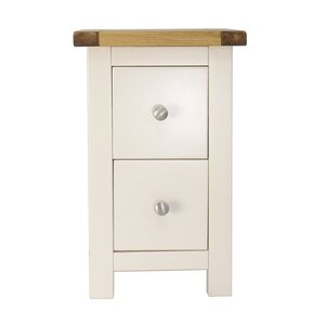 2 Drawer Petite Bedside Table