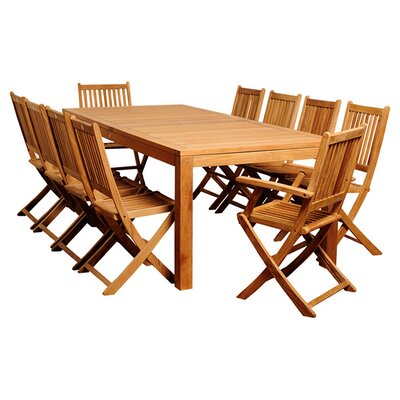 11 Piece Amazonia Teak Dining Set