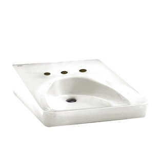 """Ceramic 20"""" Wall Mount Bathroom Sink with Overflow"""