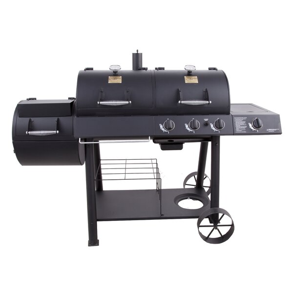 Charbroil oklahoma joe 39 s offset propane smoker gas grill for Joe s bain industrial organization