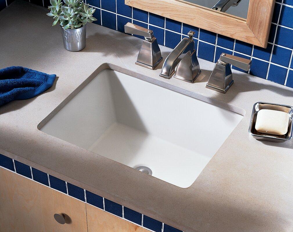 boulevard rectangular undermount bathroom sink with overflow