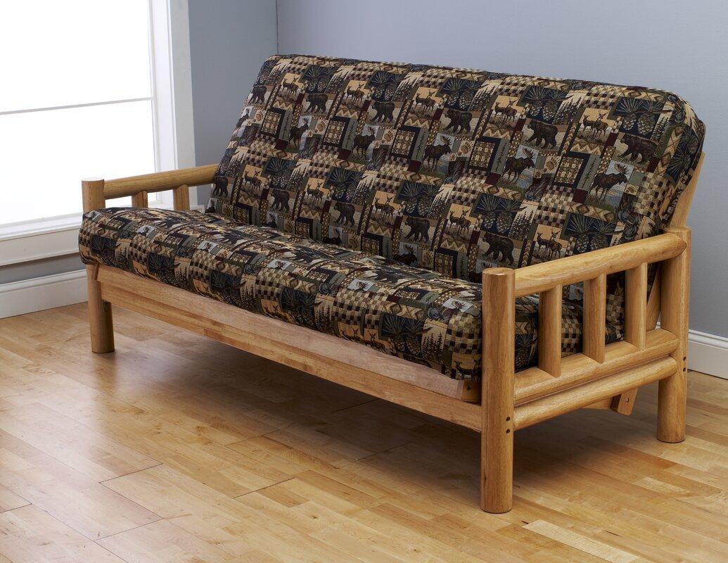 lodge peter u0027s cabin futon and mattress kodiak furniture lodge peter u0027s cabin futon and mattress  u0026 reviews      rh   wayfair
