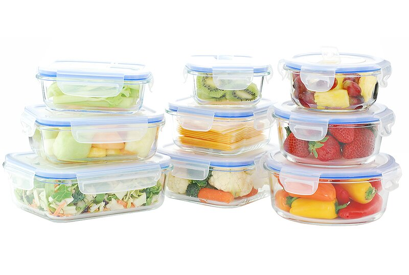 Glass Food Storage Containers With Locking Lids Gorgeous Kinetic Go Green Glass Lock Elements Oven Safe 60 Container Food