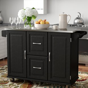 Lomas Kitchen Island with Stainless Steel