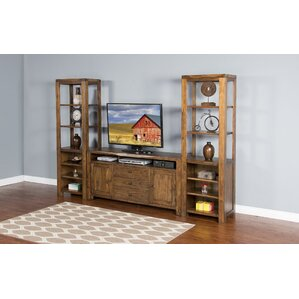 Alsatia Live Edge Pier Multimedia Wall Mounted Storage Rack by Loon Peak