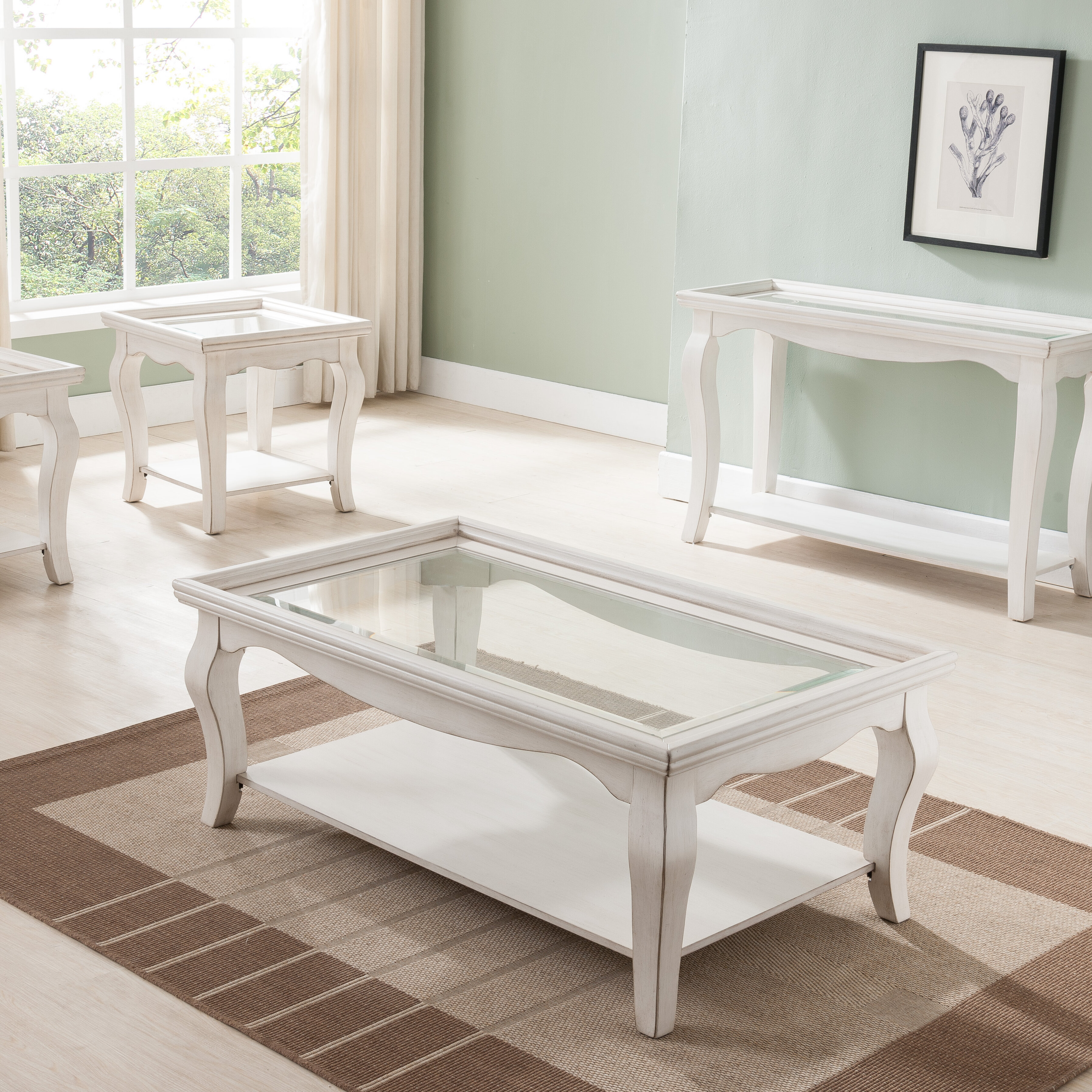 Highland Dunes Aguirre Rectangular Coffee Table by Simmons Casegoods ...