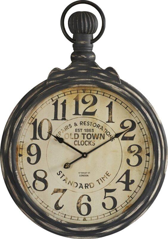 Oversized 27 5 pocket watch wall clock