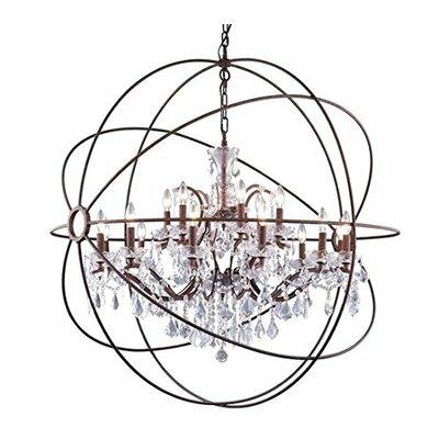 Rosdorf Park Farmington 15 Light Globe Chandelier