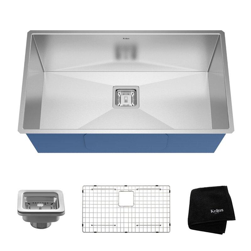 Drain Kitchen Sink Pax 31 x 18 undermount kitchen sink with drain assembly reviews pax 31 x 18 undermount kitchen sink with drain assembly workwithnaturefo
