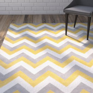 Charlenne Grey Gold Area Rug