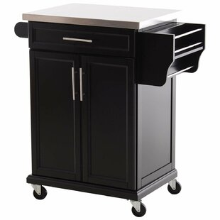 Taunton Rolling Kitchen Island with Stainless Steel Top