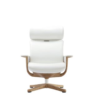 Ivory Leather Desk Chair | Wayfair