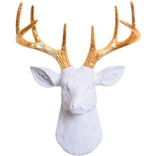White Deer Head Wall Decor | Wayfair