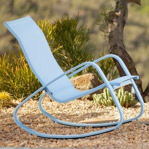 bissett metal porch deck patio rocking chair