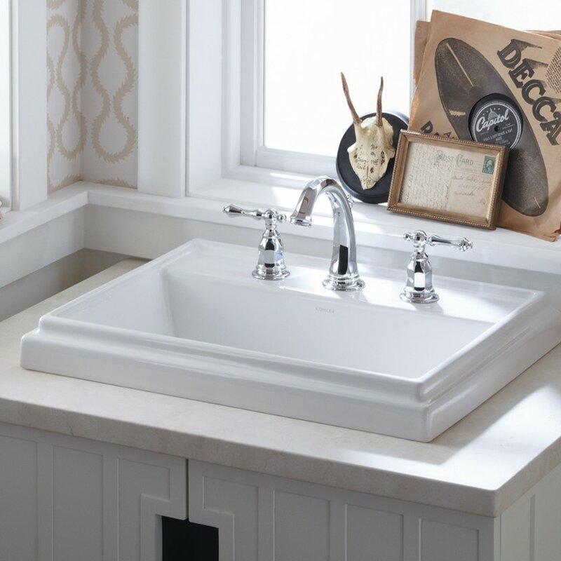 Tresham 174 Ceramic Rectangular Drop In Bathroom Sink With Overflow Amp Reviews Allmodern