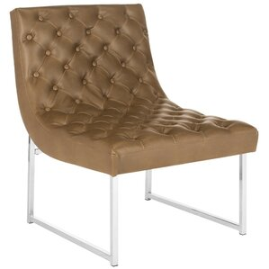 Areswell Leather Tufted Lounge Chair by Will..