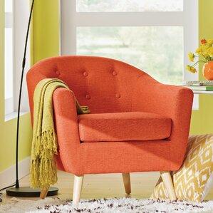 orange living room chairs. Henley Barrel Chair Accent Chairs  Birch Lane