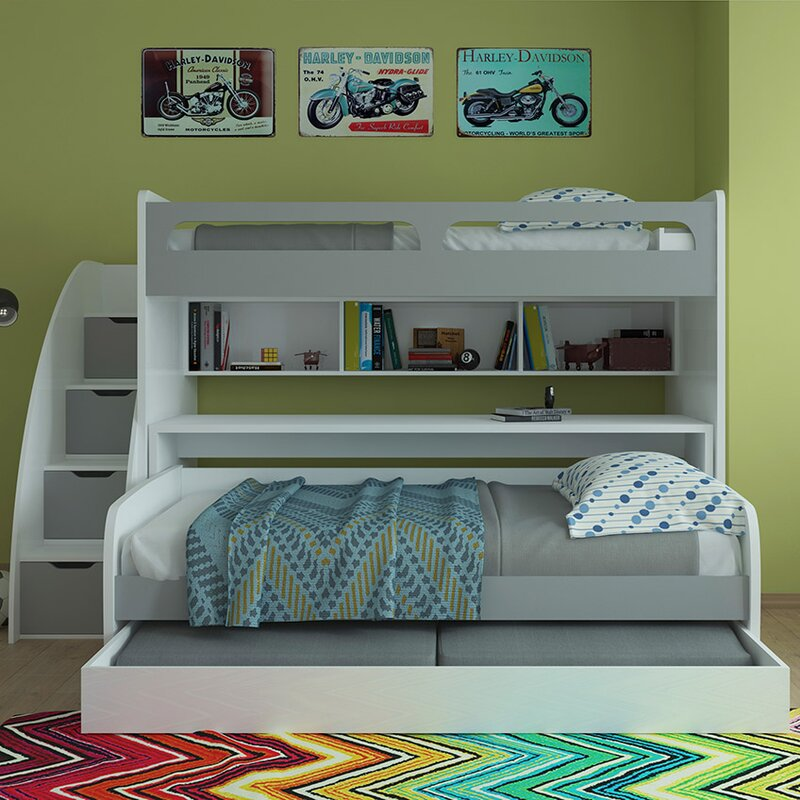 bel mondo twin over twin futon bunk bed with trundle