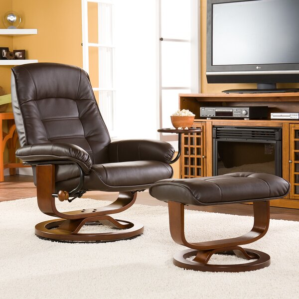 Red Barrel Studio Gibsonburg Ergonomic Manual Swivel Recliner with Ottoman  & Reviews | Wayfair - Red Barrel Studio Gibsonburg Ergonomic Manual Swivel Recliner With