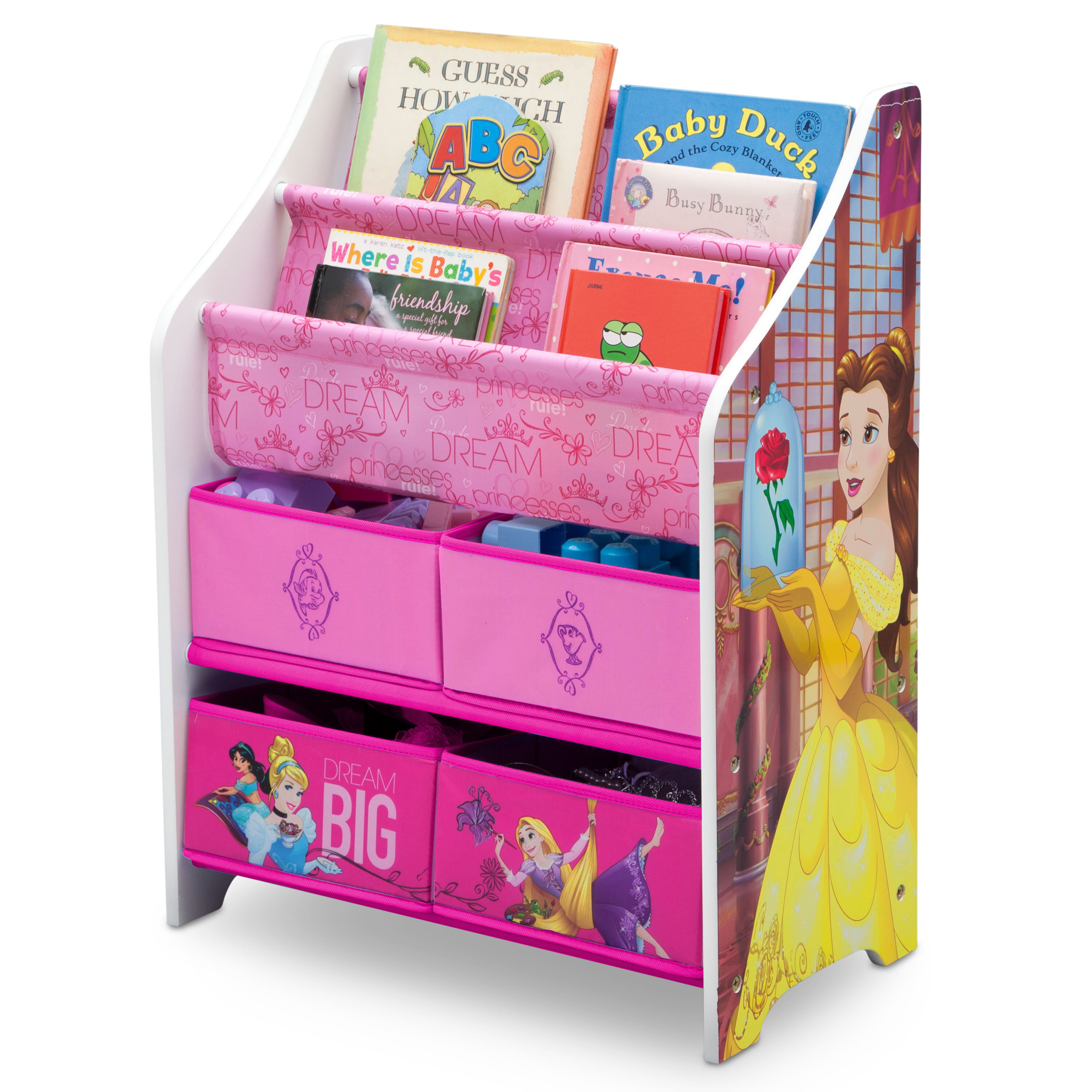 Delta Children Disney Princess Book And Toy Organizer Reviews Wayfair