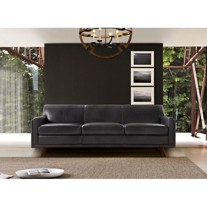 Remarkable Ari Genuine Leather Modern Leather Sofa Interior Design Ideas Clesiryabchikinfo