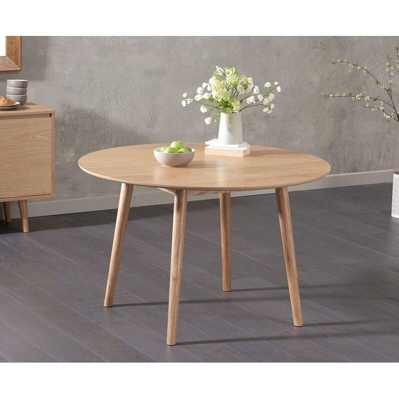 Groovy Erdem Round Oak Dining Table Complete Home Design Collection Lindsey Bellcom