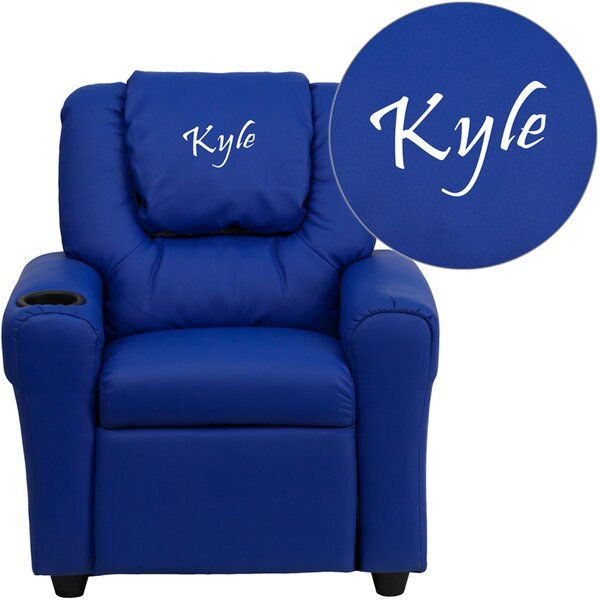 Flash Furniture Deluxe Contemporary Personalized Kids Recliner with Cup Holder u0026 Reviews | Wayfair  sc 1 st  Wayfair & Flash Furniture Deluxe Contemporary Personalized Kids Recliner ... islam-shia.org