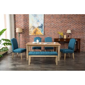 Hannam 6 Piece Dining Set by Bungalow Rose