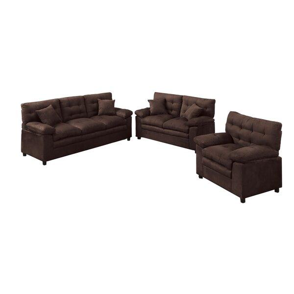Red Barrel Studio Kingsport 3 Piece Living Room Set U0026 Reviews | Wayfair Part 33