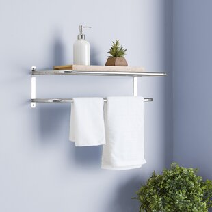 Wall Mounted 24 W X 7 H Bathroom Shelf