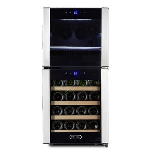 18 Bottle Dual Zone Freestanding Wine Cooler by Whynter