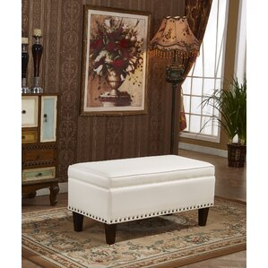 Bellasario Collection Charleston Premium Storage Bench Ottoman