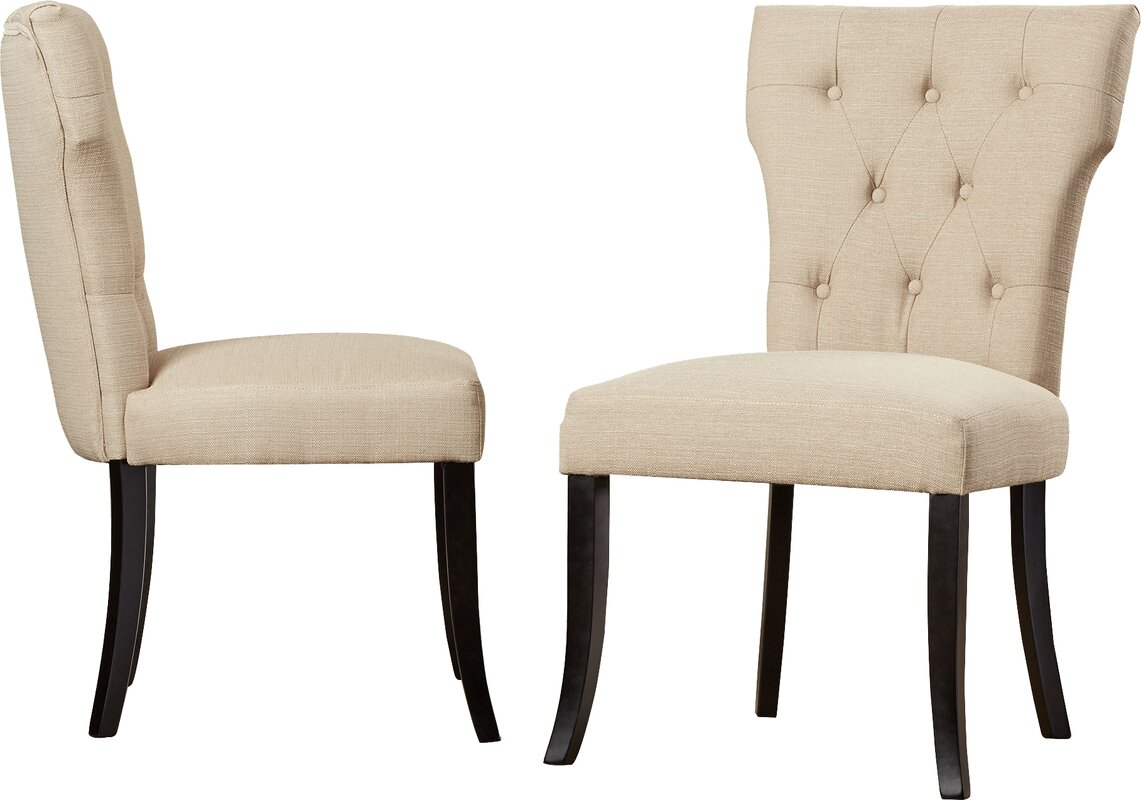 Brayden studio vangilder parsons upholstered dining chair for Upholstered parson dining chairs