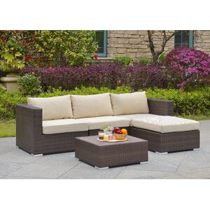 Asther 5 Piece Sectional Set with Cushions
