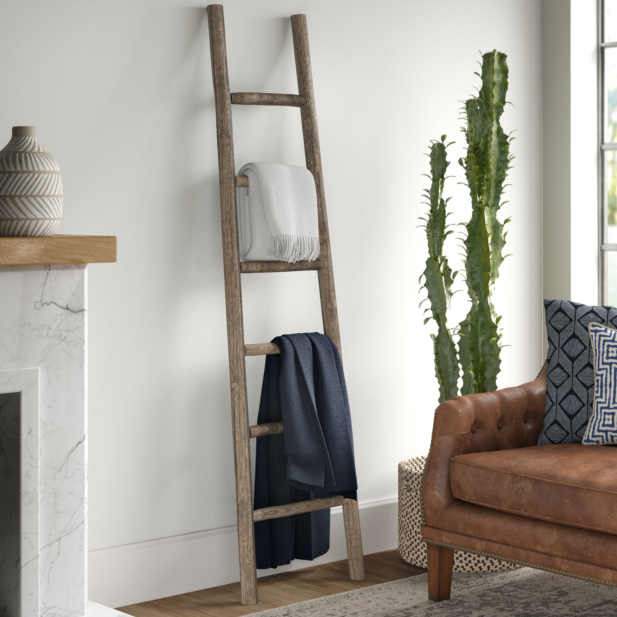 Wooden 6 Ft Blanket Ladder