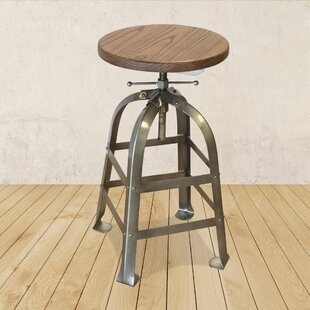 Metal Adjustable Height Swivel Bar Stool