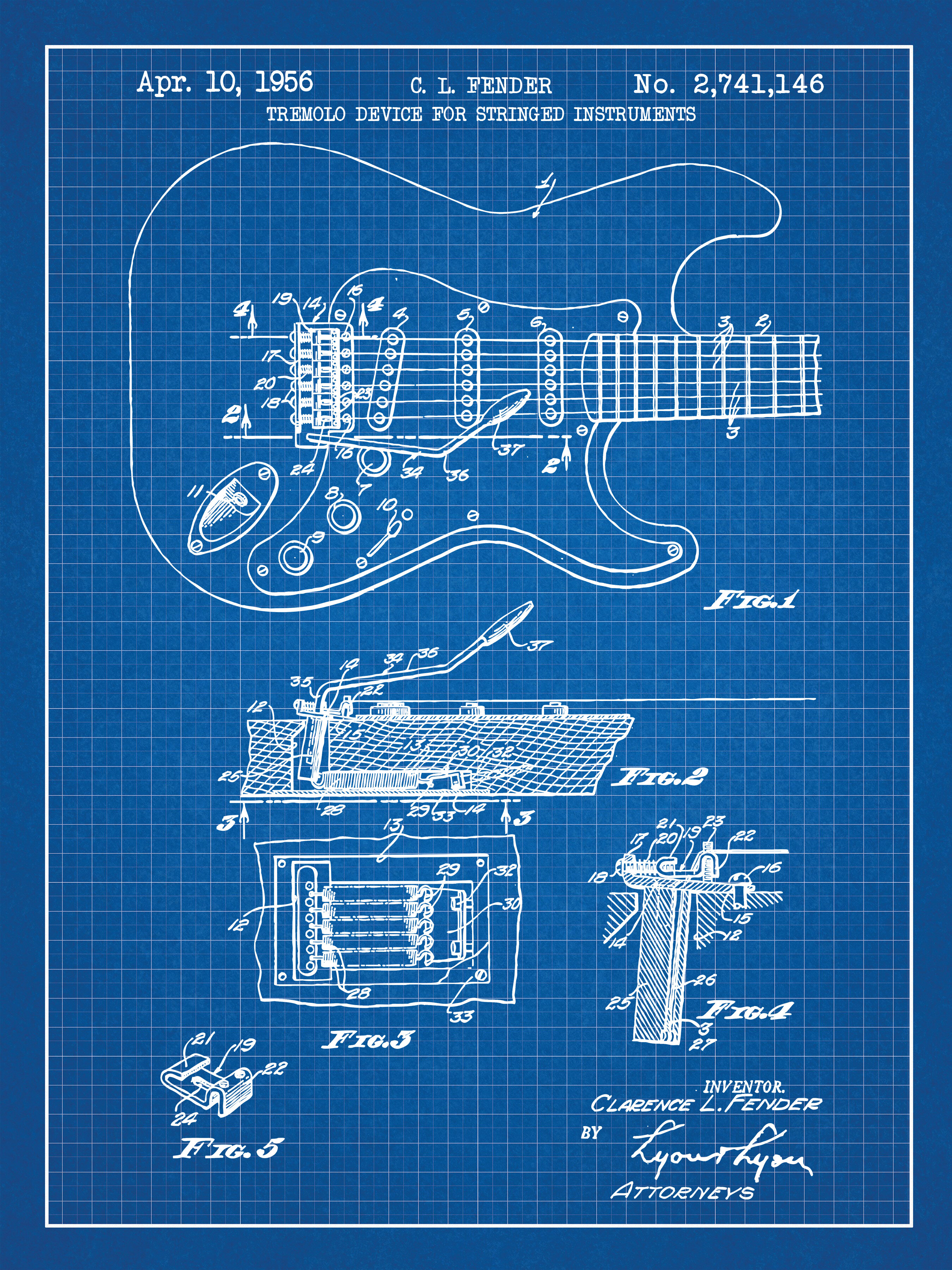 Williston forge fender stratocaster guitar blueprint graphic art williston forge fender stratocaster guitar blueprint graphic art in blue gridwhite ink reviews wayfair malvernweather Choice Image