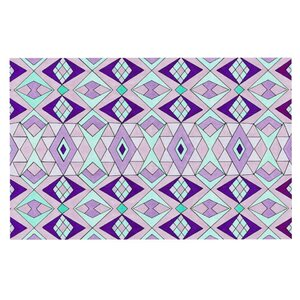 Pom Graphic Design 'Geometric Flow' Lavender Geometric Doormat